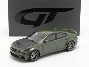 Dodge Charger SRT Hellcat Widebody year 2020 green metallic 1:18 GT-Spirit