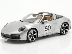 Porsche 911 (992) Targa 4S Heritage Edition #50 2020 GT silver 1:18 Spark