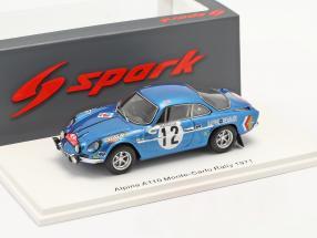 Alpine A110 #12 8th Rallye Monte Carlo 1971 Darniche, Robertet 1:43 Spark