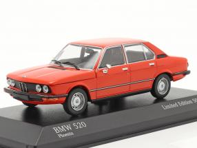BMW 520 Construction year 1974 phoenix red 1:43 Minichamps
