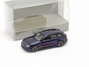 Audi RS4 Avant year 2018 navarra blue 1:87 Minichamps