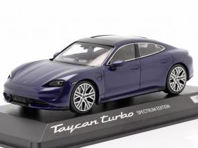 Porsche Taycan Turbo Spectrum Edition 2020 gentian blue metallic 1:43 Minichamps