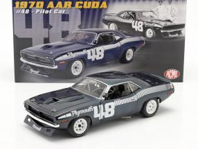 Plymouth Cuda AAR #48 1970 Pilot Car blue / white 1:18 GMP