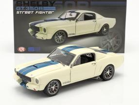 Ford Mustang Shelby GT 350R Street Fighter 1965 White / blue 1:18 GMP