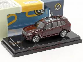 BMW X7 (G07) LHD year 2019 ametrine red metallic 1:64 Paragon Models