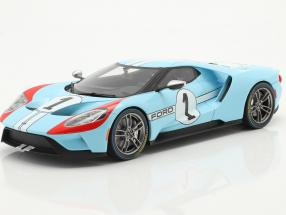 Ford GT Heritage Edition 2020 #1 gulf blue / orange 1:18 GT-Spirit