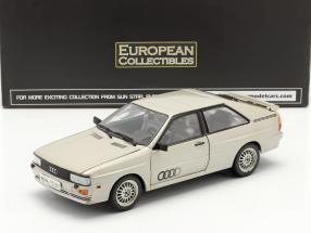 Audi Quattro Coupe year 1981 silver 1:18 SunStar