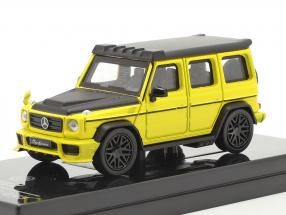 Mercedes-Benz AMG C63 Liberty Walk 2018 yellow / black 1:64 Paragon Models