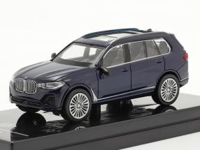BMW X7 (G07) LHD year 2019 tanzanite blue 1:64 Paragon Models