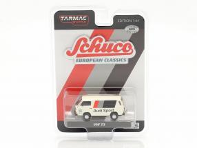 Volkswagen VW T3 Van Audi Sport white 1:64 Tarmac Works / Schuco