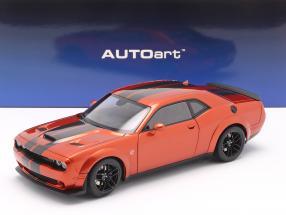Dodge Challenger SRT Hellcat Widebody year 2018 dark orange 1:18 AUTOart