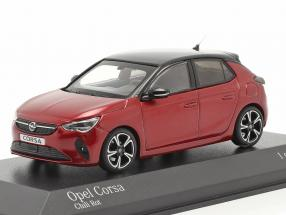 Opel Corsa E year 2019 red metallic 1:43 Minichamps