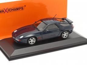 Porsche 928 GTS Baujahr 1991 blaugrün metallic 1:43 Minichamps