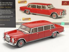 Mercedes-Benz 600 Pullmann (W100) limousine year 1972 Red Baron 1:18 CMC