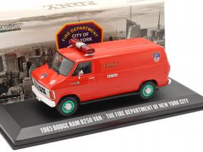 Dodge RAM B250 Van New York City Fire Department 1983 red / green 1:43 Greenlight