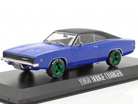 Dennis Guilder's Dodge Charger 1968 Movie Christine (1983) blue / black / green 1:43 Greenlight