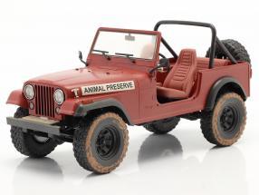 Jeep CJ-7 1981 Animal Preserve TV series The A-Team (1983-87) red 1:18 Greenlight