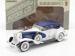 Duesenberg II SJ white / blue 1:18 Greenlight