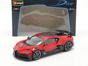 Bugatti Divo year 2018 red / black 1:18 Bburago