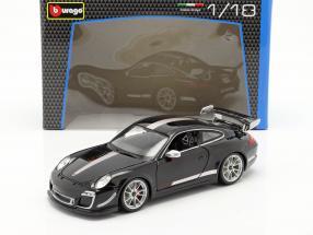 Porsche 911 (997) GT3 RS 4.0 Year 2011 black / silver 1:18 Bburago
