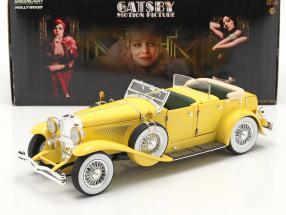 Düsenberg II SJ out the Movie The Great Gatsby 2013 yellow 1:18 Greenlight