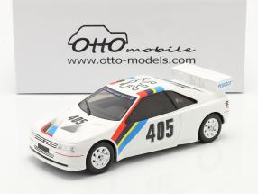 Peugeot 405 T16 Gr. S #405 Presentation Car 1988 white 1:18 OttOmobile