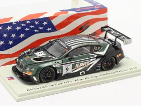 Bentley Continental GT3 #9 California 8h 2018 K-PAX Racing 1:43 Spark