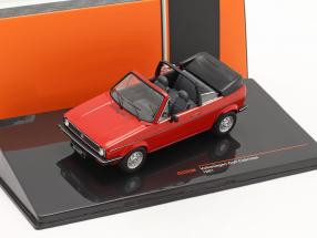 Volkswagen VW Golf I Cabriolet year 1981 red 1:43 Ixo