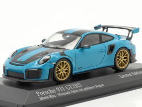 Porsche 911 (991 II) GT2 RS Weissach Package 2018 miami blue 1:43 Minichamps