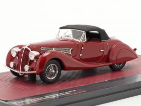 Delahaye 135MS Grand Sport Roadster Figoni Falschi 1939 dark red 1:43 Matrix