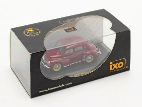 """Renault 4CV """"LUXE"""" year 1951 rouge bordeaux 1:43 Ixo / 2nd choice"""