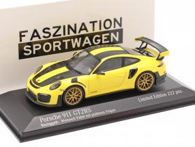 Porsche 911 (991 II) GT2 RS Weissach Package 2018 racing yellow 1:43 Minichamps
