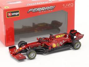S. Vettel Ferrari SF1000 #5 1000th GP Ferrari Tuscany GP F1 2020 1:43 Bburago