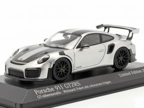 Porsche 911 (991 II) GT2 RS Weissach Package 2018 GT-silber 1:43 Minichamps