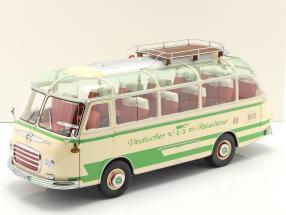 Setra S6 bus Vestischer Reisedienst year 1954-63 beige / green 1:18 Schuco