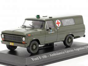 Ford F-100 Military ambulance Argentina year 1969 olive 1:43 Altaya