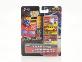 3-Car Set Nano Cars Transformers Jada Toys