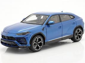 Lamborghini Urus year 2018 blue metallic 1:18 AUTOart