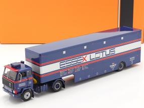 Volvo F89 Race Car Transporter Essex Lotus blue / silver / red 1:43 Ixo