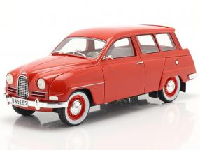 Saab 95 year 1963 red 1:18 Cult Scale