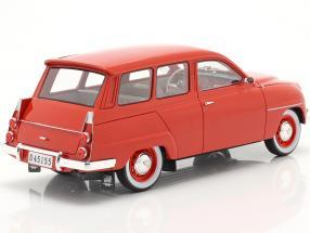 Saab 95 year 1963 red  Cult Scale