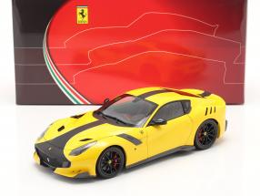 Ferrari F12 TDF year 2015 modena yellow / black 1:18 BBR