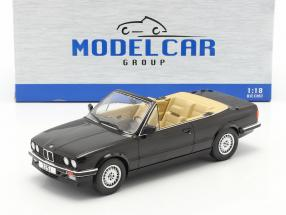 BMW 3 Series 325i (E30) Cabriolet year 1985 black 1:18 Model Car Group
