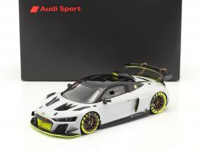 Audi R8 LMS GT2 Presentation Car 2020 grey / black / yellow 1:18 Spark