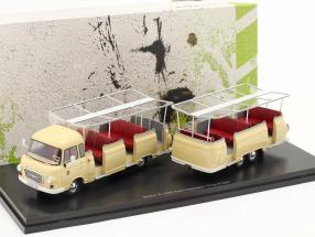 Barkas B 1000 Aussichtswagen Expreß 800  year 1965 light yellow 1:43 AutoCult