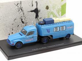 Citroen Acadiane Gauloises Truckente year 1981 blue 1:43 AutoCult