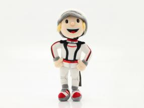 Porsche Plush figure Tom Targa 30 cm white / black / red