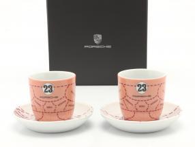 Espresso cups (set of 2) Porsche 917/20 Pink Pig #23