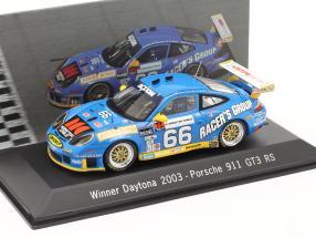 Porsche 911 GT3 RS #66 Winner 24h Daytona 2003 Buckler, Schrom, Bernhard, Bergmeister 1:43 Spark