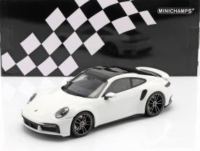Porsche 911 (992) Turbo S year 2020 white 1:18 Minichamps